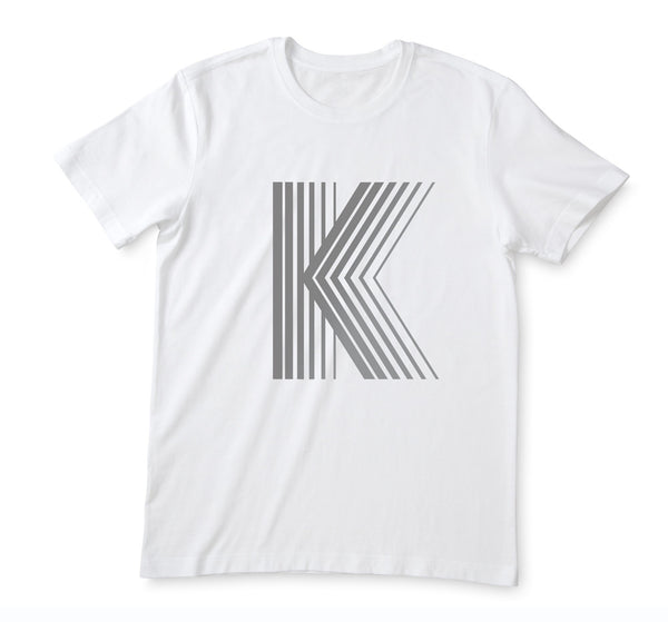 Kids White Geo Letter T-shirt