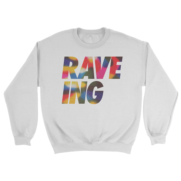 Limited Edition Adults Rainbow Swirl 'RAVE-ING' Sweat for Pride