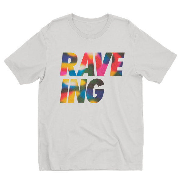 Limited Edition Adults Rainbow Swirl 'RAVE-ING' Tee for Pride