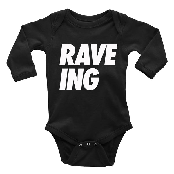 Organic Cotton RAVE-ING* Baby Bodysuit