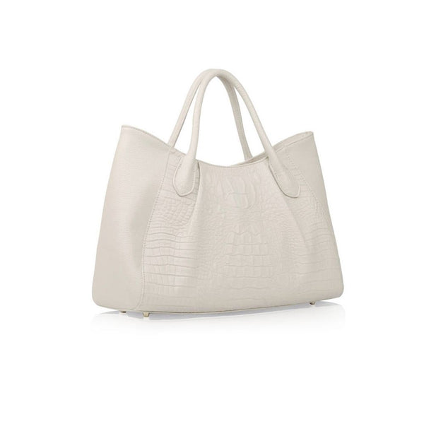 STORY 81 Georgia Vegan Leather Grey Tote Bag