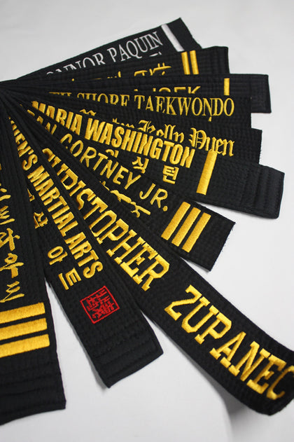 CUSTOM EMBROIDERED BELTS