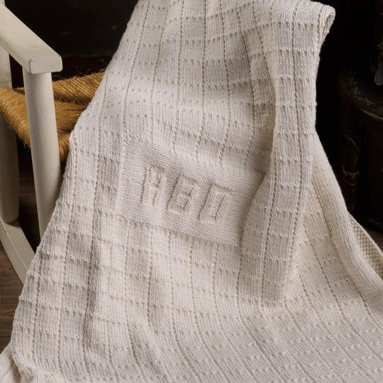 Blanket Monogram Knit Kit