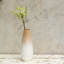 Large White Wooden Vase