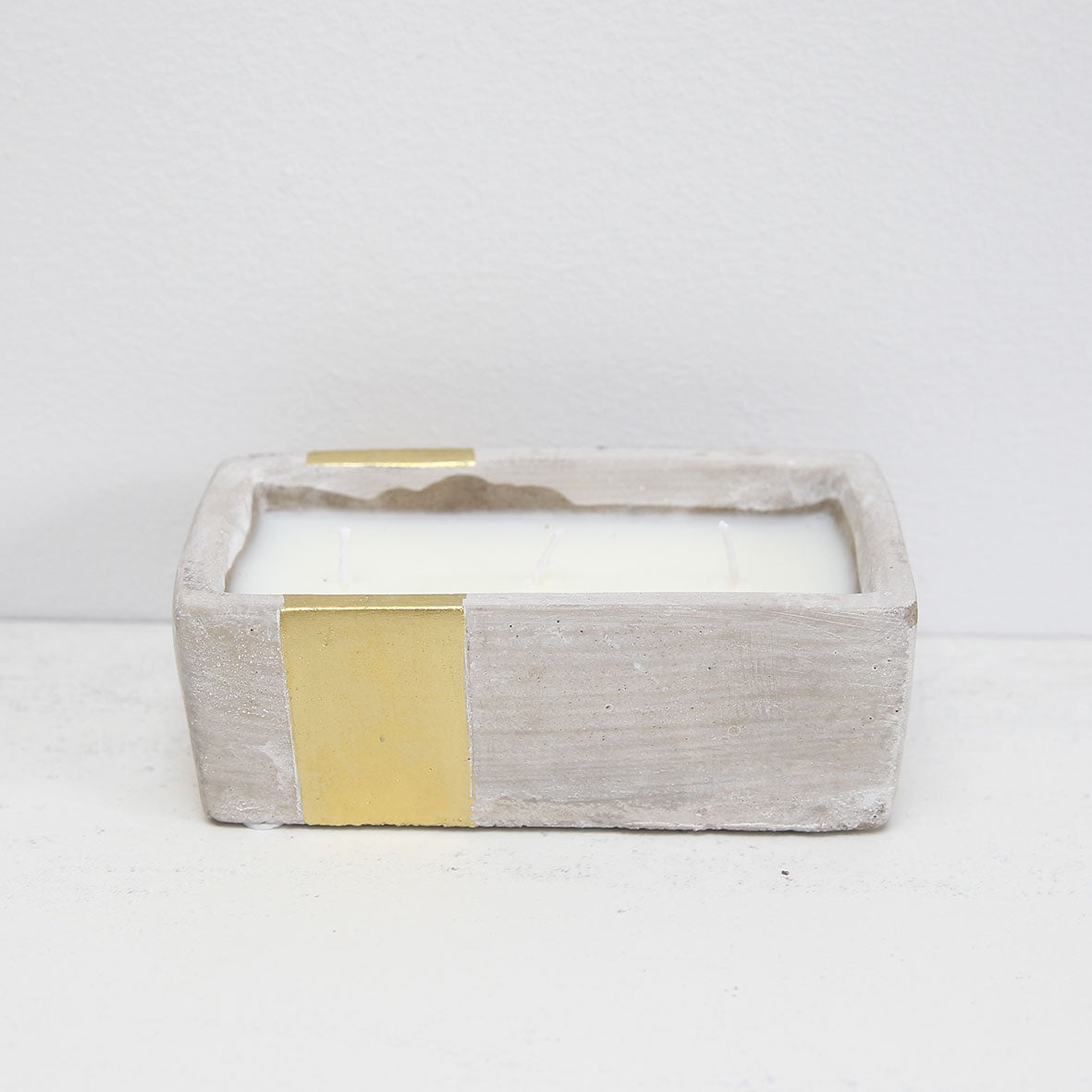 Concrete rectangular candle