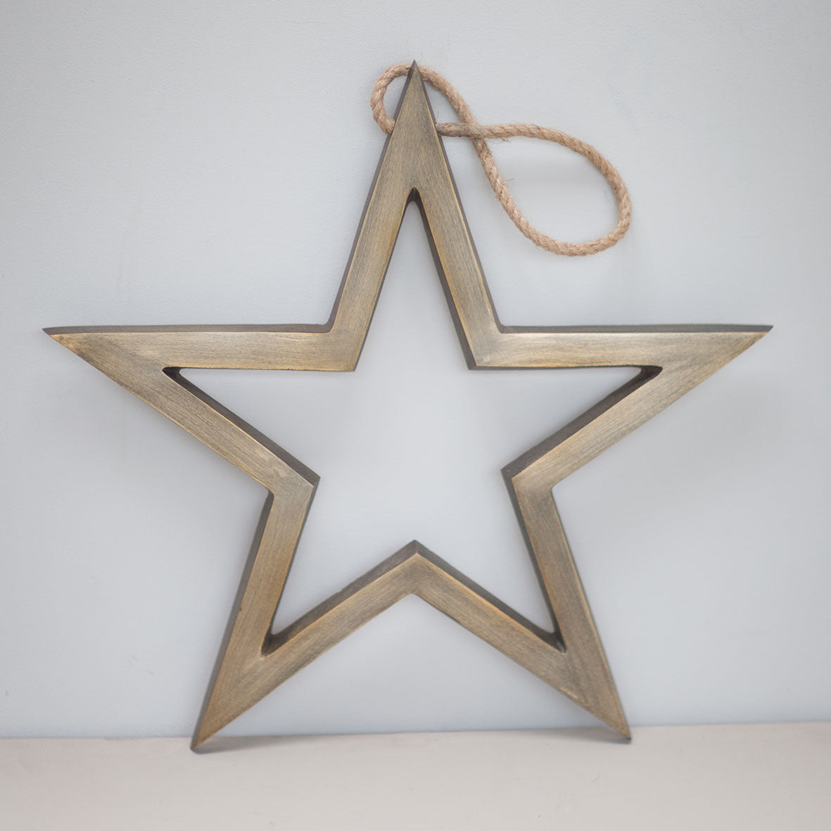 Brushed metal star
