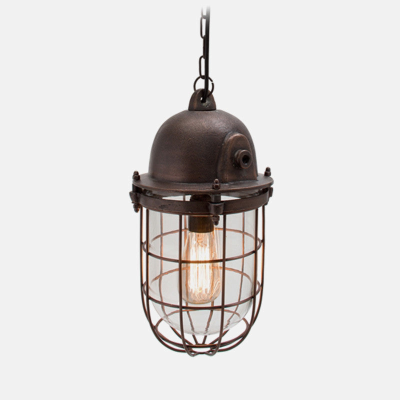 Caged Industrial Light