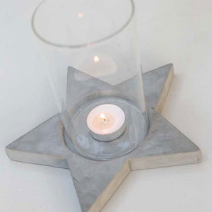 Concrete Star Votive