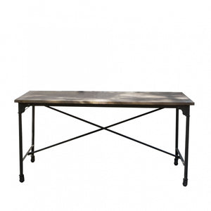 Wood & Iron Dining Table