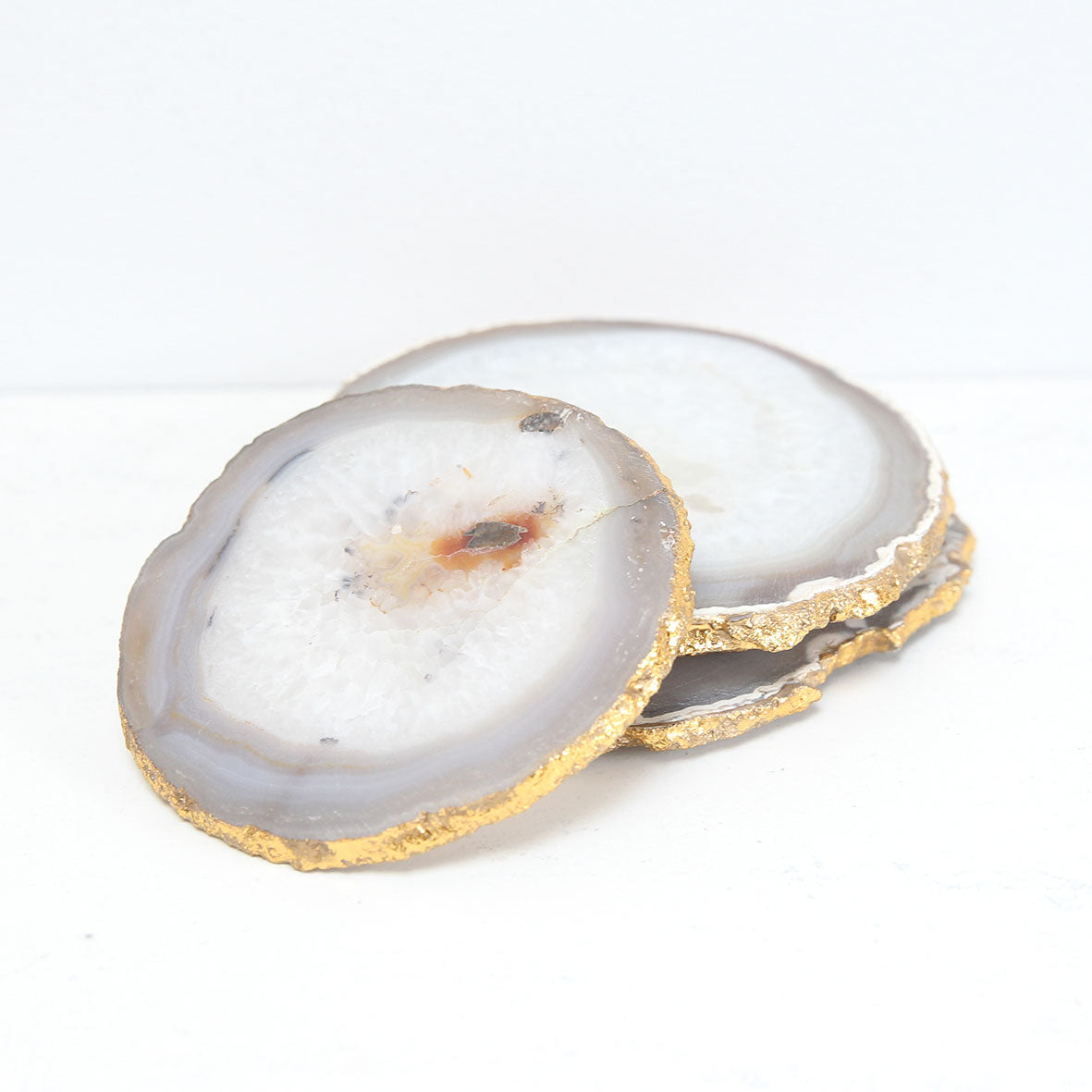 Gold and agate coaster