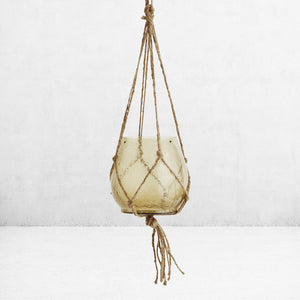 Smoked glass hanging planter