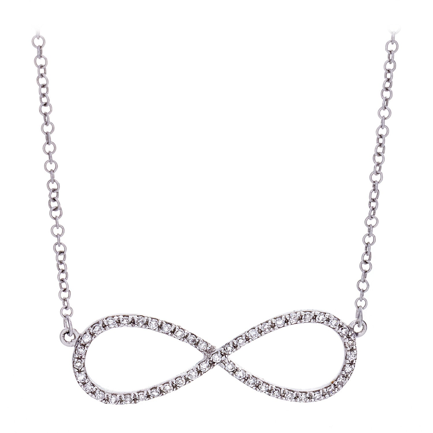 Diamond Infinity Necklace White Gold – Palaso Aspen