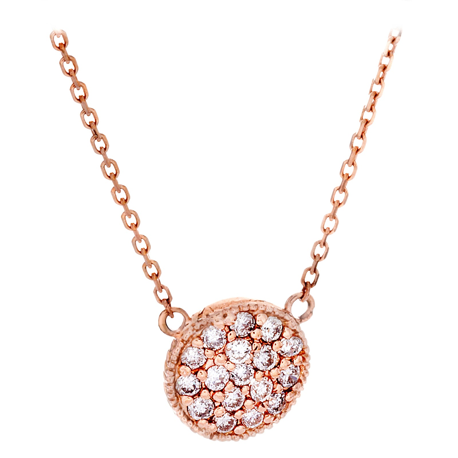 Diamonds & 14K Rose Gold Necklace