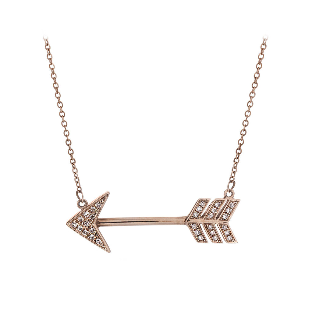 Diamond & 14K Rose Gold Arrow Necklace - SOLD/CAN BE SPECIAL ORDERED WITH 4-6 WEEKS DELIVERY TIME FRAME
