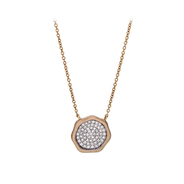 Diamond Objet d'Art Necklace in Rose Gold - SOLD/CAN BE SPECIAL ORDERED WITH 4-6 WEEKS DELIVERY TIME FRAME