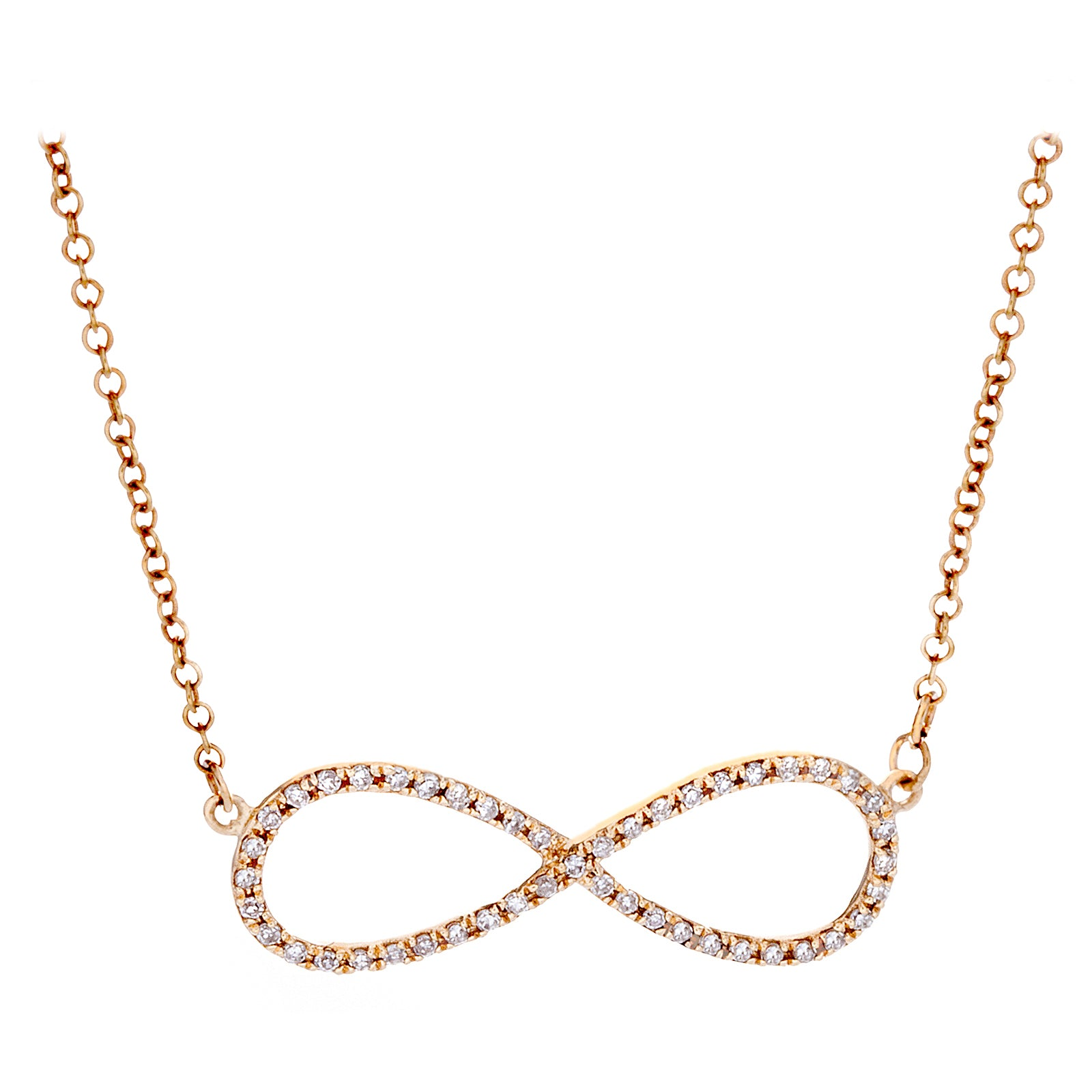 Diamonds & 14K Yellow Gold Infinity Necklace