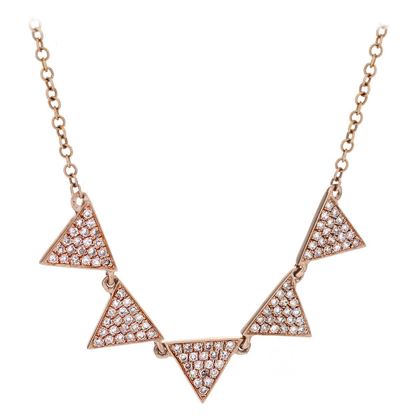 Diamond Five Pennant Necklace