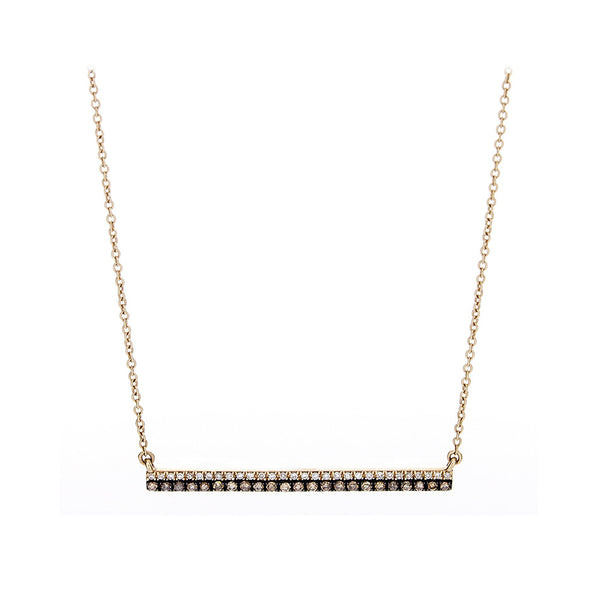 Diamond & 14K Yellow Gold Two Tone Bar Necklace-SOLD/CAN BE SPECIAL ORDERED WITH 4-6 WEEKS DELIVERY TIME FRAME