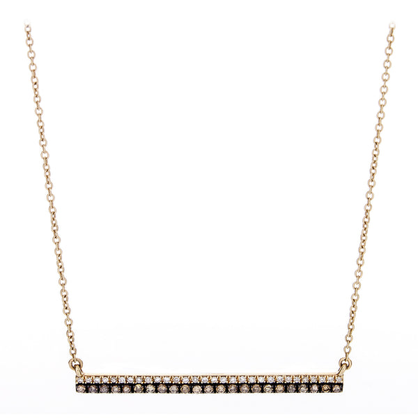 Diamond Two Tone Bar Necklace