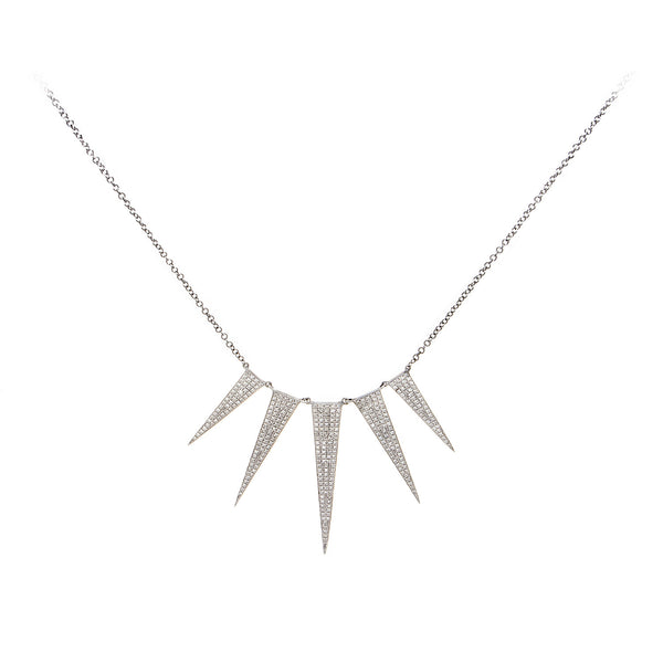 Diamond Five Spike Necklace