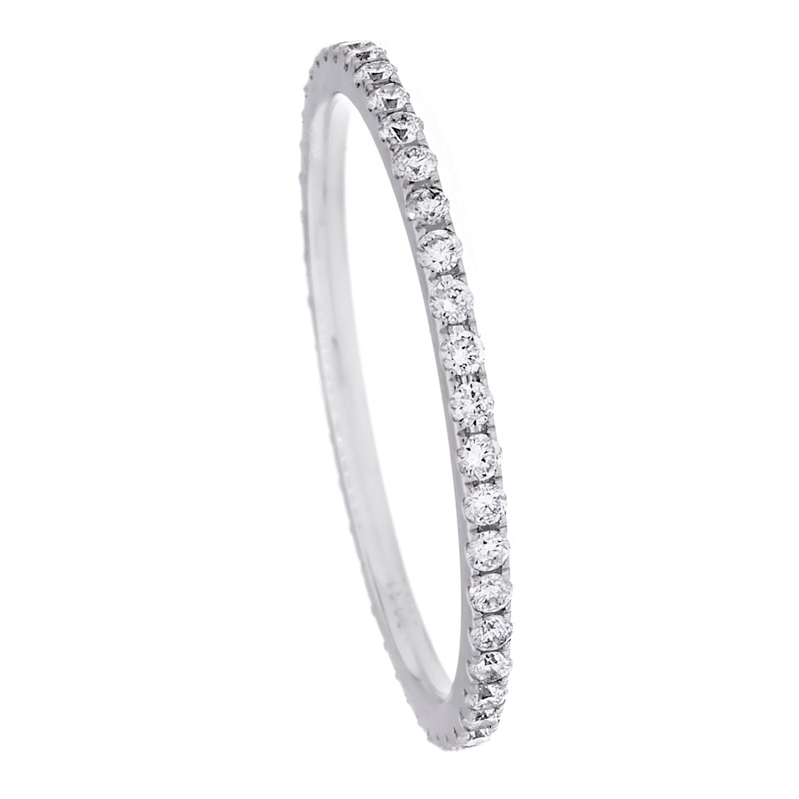 Diamonds & 18K White Gold Single Band Ring - SOLD/CAN BE SPECIAL ORDERED WITH 4-6 WEEKS DELIVERY TIME FRAME