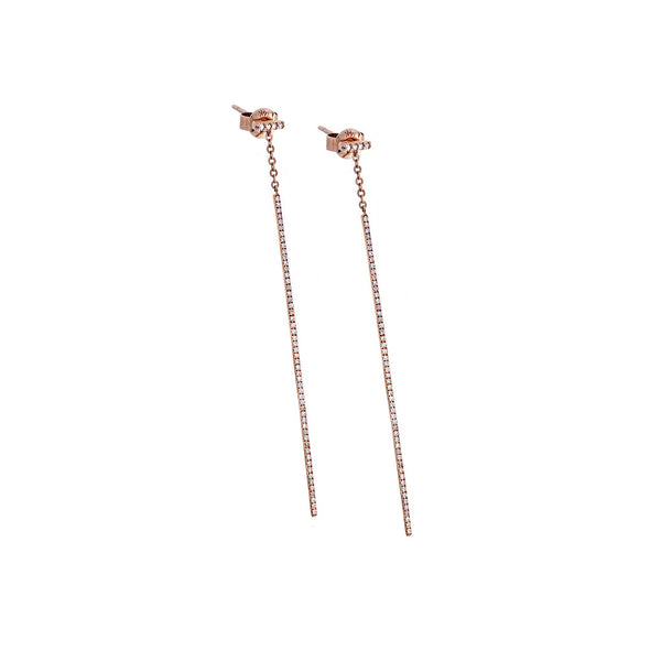 Diamond Post/Dangle & 14K Rose Gold Earrings