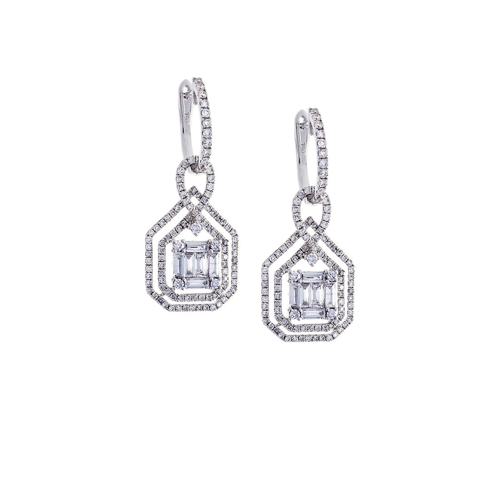 Diamond Deco Dangle Earrings - SOLD/CAN BE SPECIAL ORDERED WITH 4-6 WEEKS DELIVERY TIME FRAME