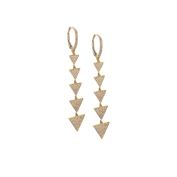 Diamond Geometrical Dangle Earrings - SOLD/CAN BE SPECIAL ORDERED WITH 4-6 WEEKS DELIVERY TIME FRAME