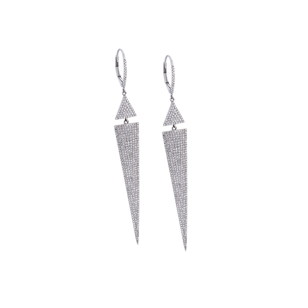 Diamond & 14K White Gold Spike Earrings - SOLD/CAN BE SPECIAL ORDERED WITH 4-6 WEEKS DELIVERY TIME FRAME