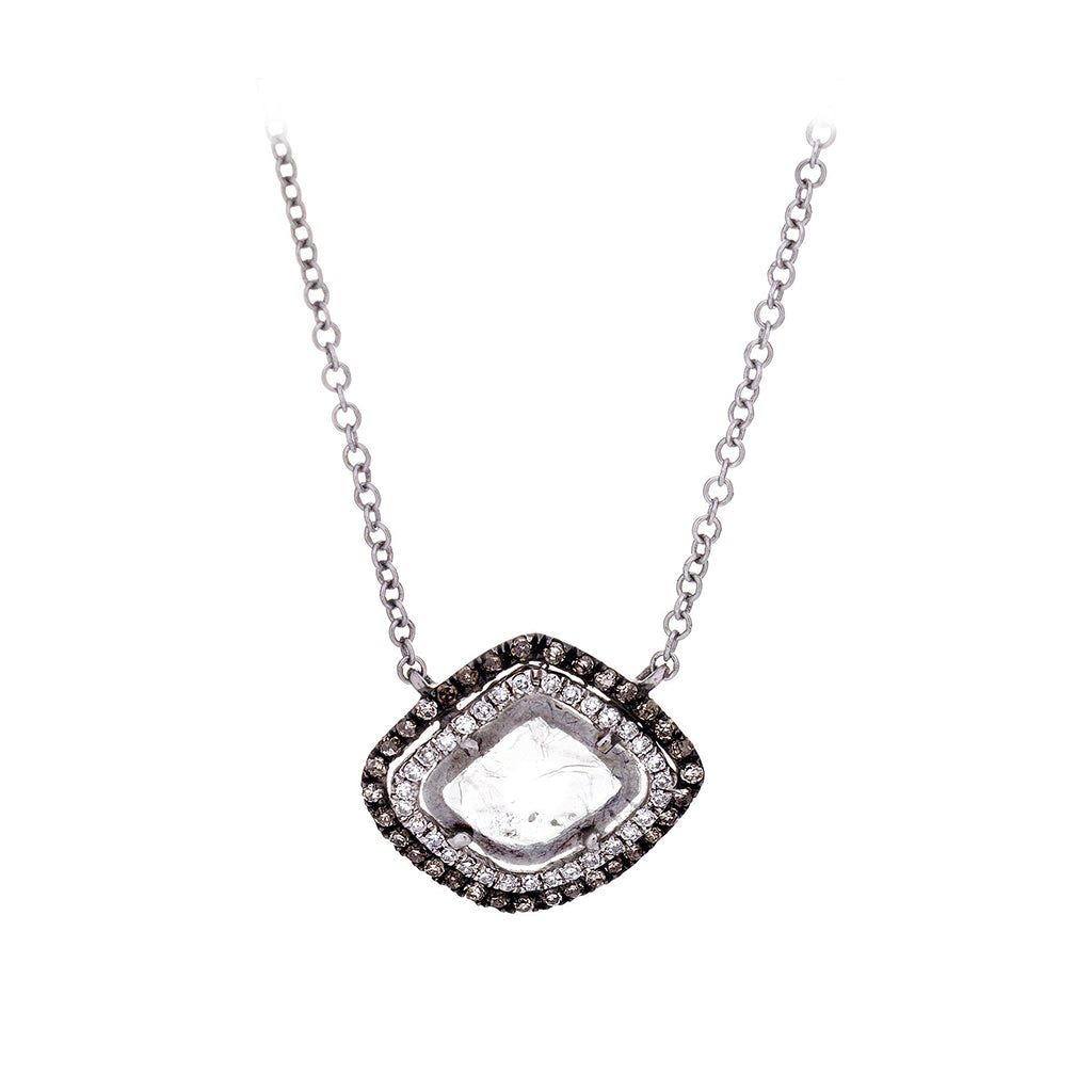 Diamond & Stone Necklace - SOLD/CAN BE SPECIAL ORDERED WITH 4-6 WEEKS DELIVERY TIME FRAME