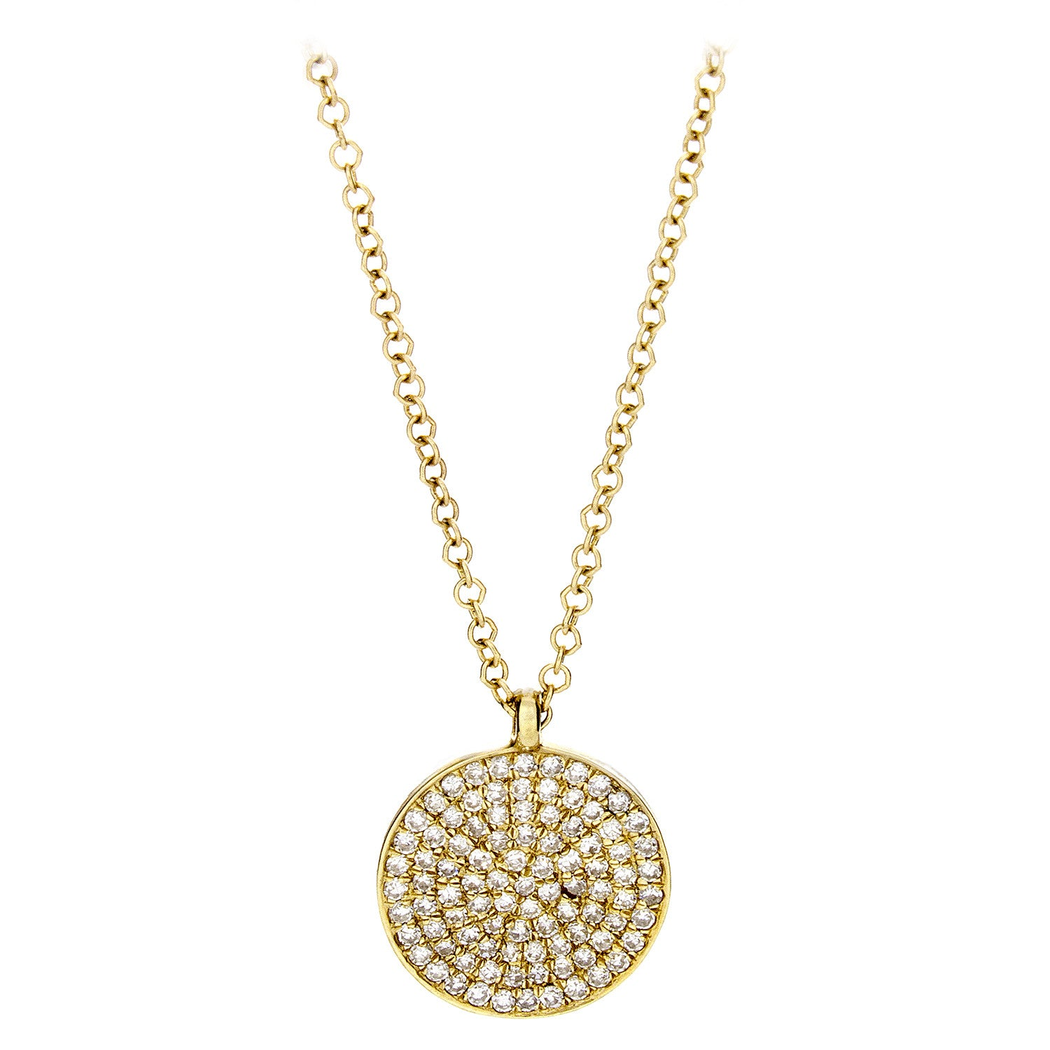 Diamond & 14K Yellow Gold Shield Pendant & Chain - SOLD/CAN BE SPECIAL ORDERED WITH 4-6 WEEKS DELIVERY TIME FRAME