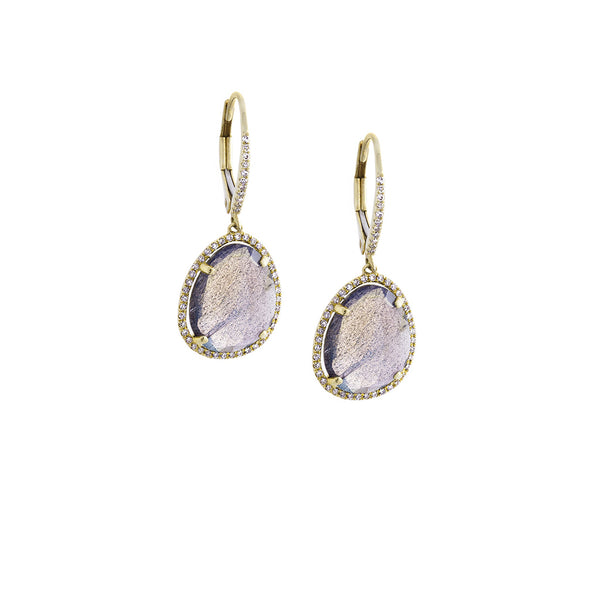 Pavé Diamond & Stone 14K Yellow Gold Dangle Earrings - SOLD/CAN BE SPECIAL ORDERED WITH 4-6 WEEKS DELIVERY TIME FRAME