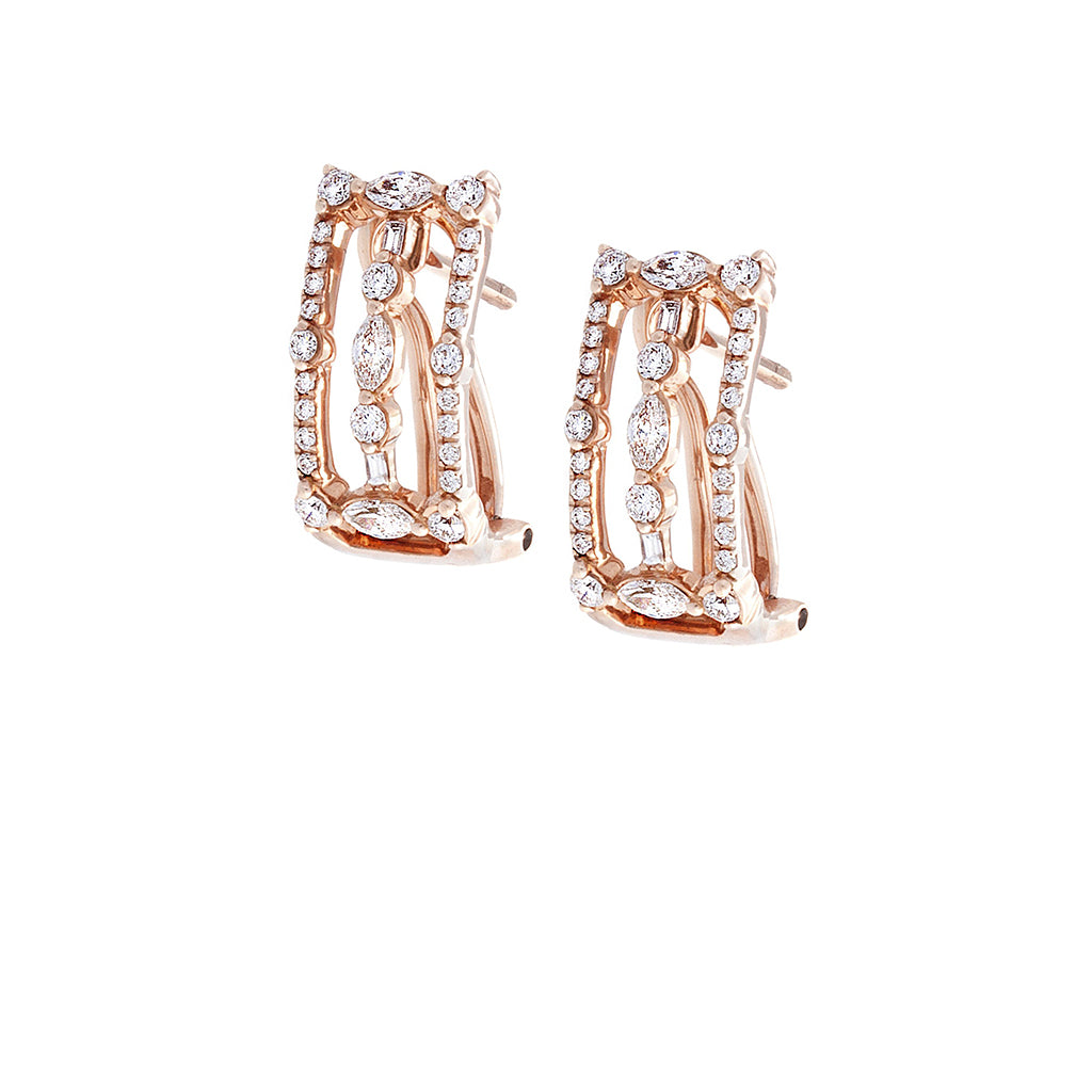 Diamond Geometrical Earrings - SOLD/CAN BE SPECIAL ORDERED WITH 4-6 WEEKS DELIVERY TIME FRAME