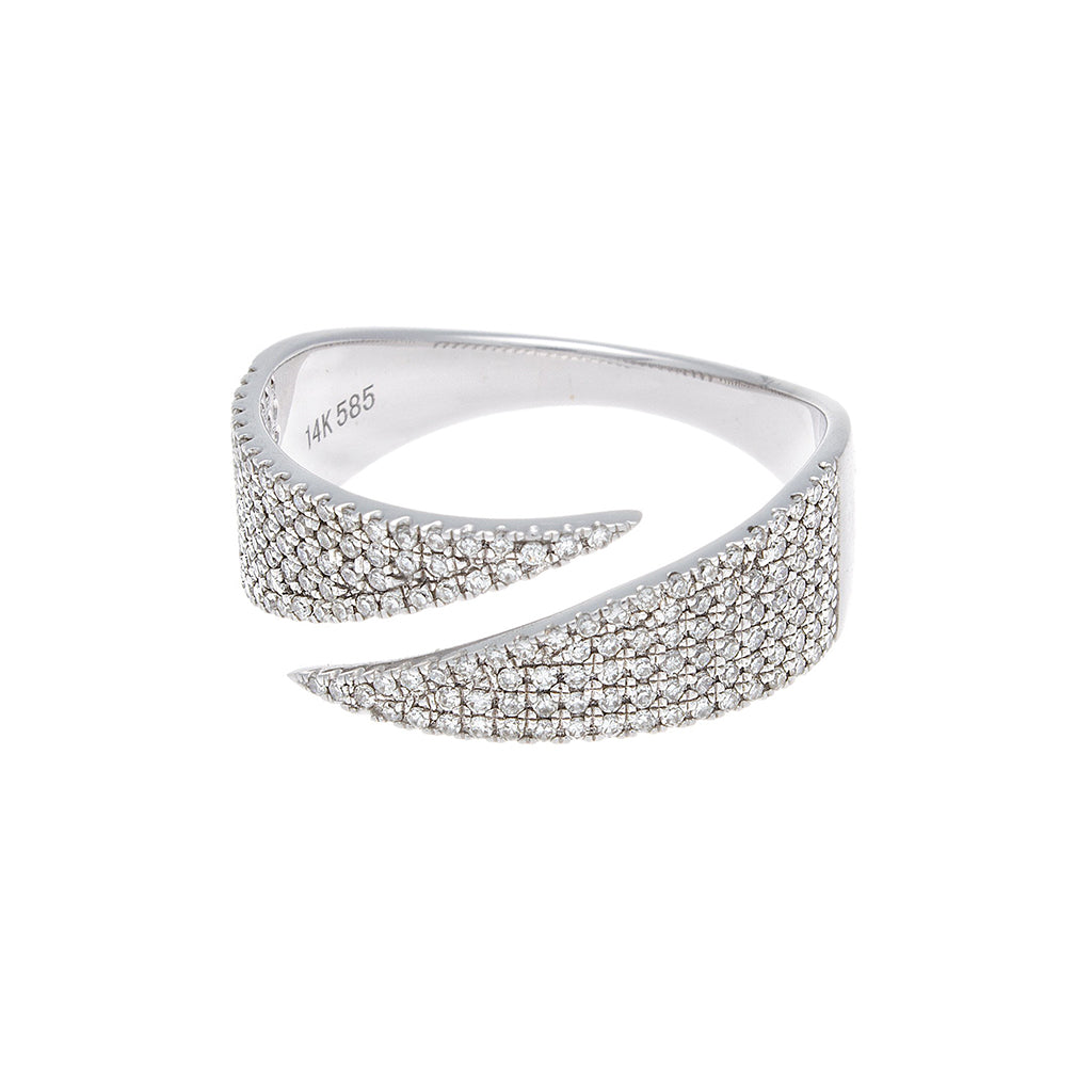 Diamond Pave White Gold Band-SOLD/CAN BE SPECIAL ORDERED WITH 4-6 WEEKS DELIVERY TIME FRAME