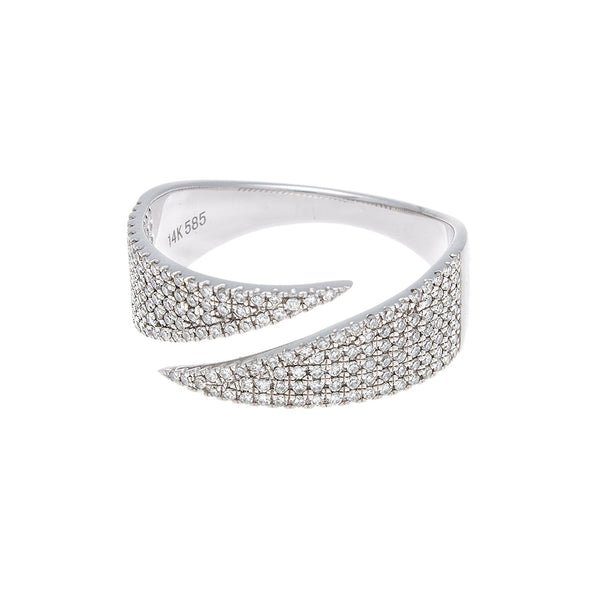 Diamond Pave White Gold Band