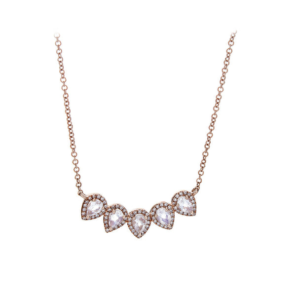 Pear & Pave Diamond Rose Gold Necklace - SOLD/CAN BE SPECIAL ORDERED WITH 4-6 WEEKS DELIVERY TIME FRAME