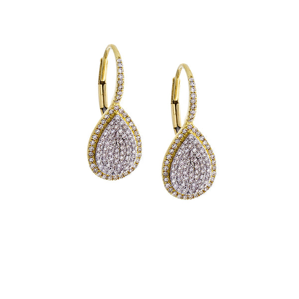 Diamond Drop Earrings - SOLD/CAN BE SPECIAL ORDERED WITH 4-6 WEEKS DELIVERY TIME FRAME