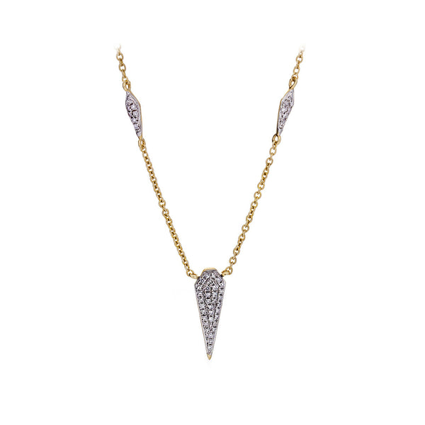 Diamond & 14K Yellow Gold Spike & Chain Necklace - SOLD/CAN BE SPECIAL ORDERED WITH 4-6 WEEKS DELIVERY TIME FRAME