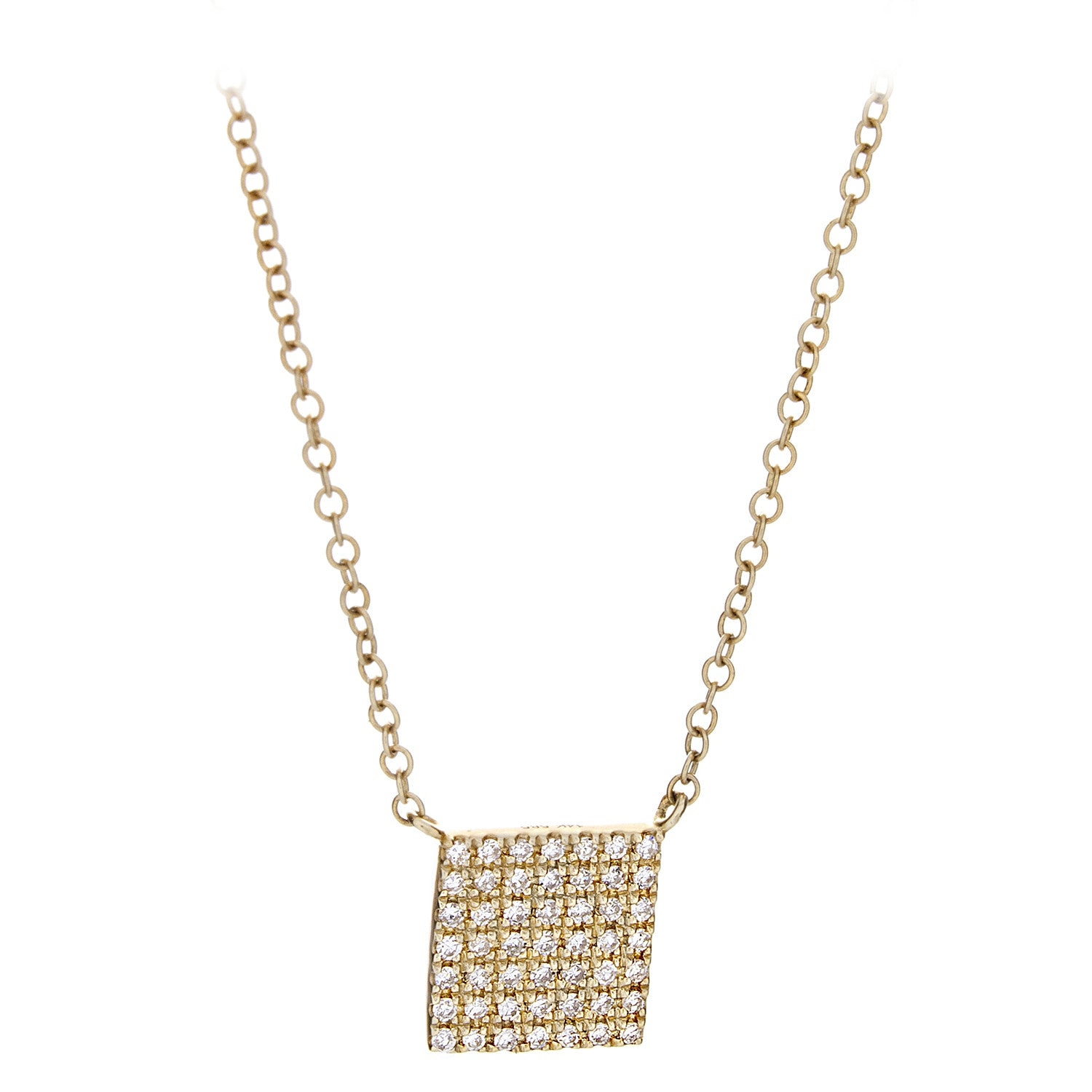 Diamond Square Necklace