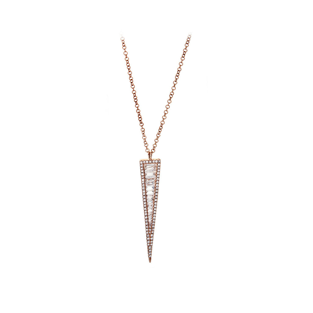 gallery white product baguette diamond necklace deco roberto coin normal jewelry lyst classic pendant gold