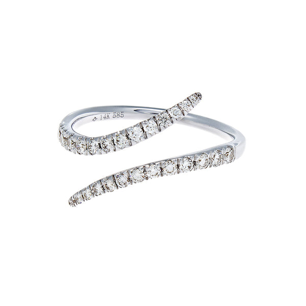 Diamond Serpentine White Gold Ring