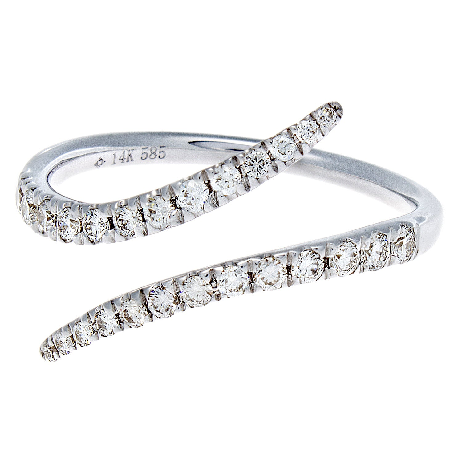 Diamond Serpentine White Gold Ring- SOLD/CAN BE SPECIAL ORDERED WITH 4-6 WEEKS DELIVERY TIME FRAME