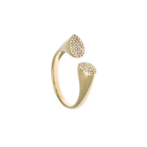 Diamond & 14K Yellow Gold Chunky Horseshoe Ring - SOLD