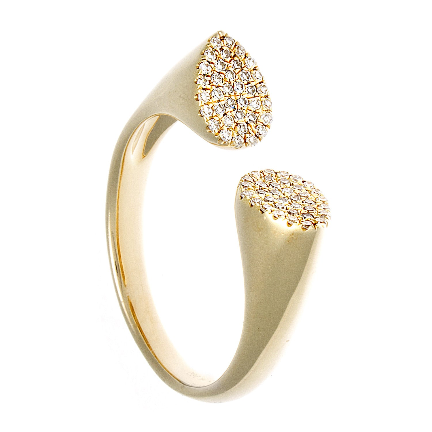 Diamond & 14K Yellow Gold Chunky Horseshoe Ring - SOLD/CAN BE SPECIAL ORDERED WITH 4-6 WEEKS DELIVERY TIME FRAME