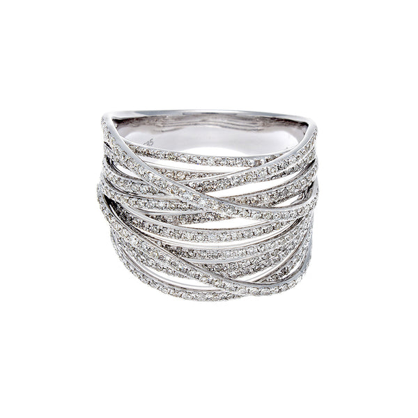 Diamond & 14K White Gold Multi Roads Ring