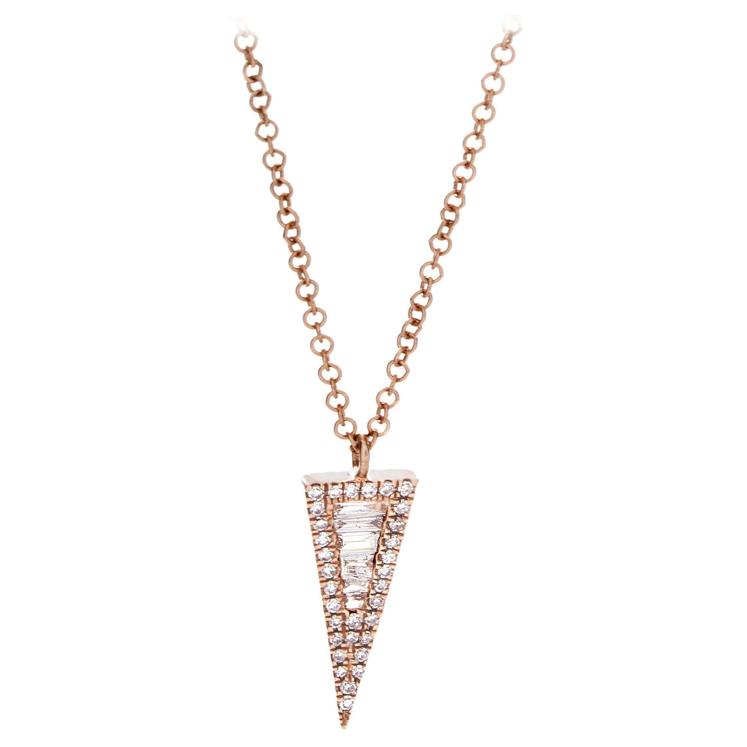Diamond Spike Pendant & Chain