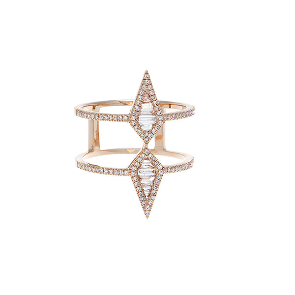 Diamond Geometric Ring - SOLD/CAN BE SPECIAL ORDERED WITH 4-6 WEEKS DELIVERY TIME FRAME