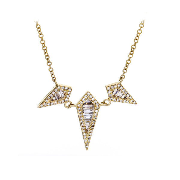 Diamond & 14K Yellow Gold Rhombus Necklace - SOLD/CAN BE SPECIAL ORDERED WITH 4-6 WEEKS DELIVERY TIME FRAME
