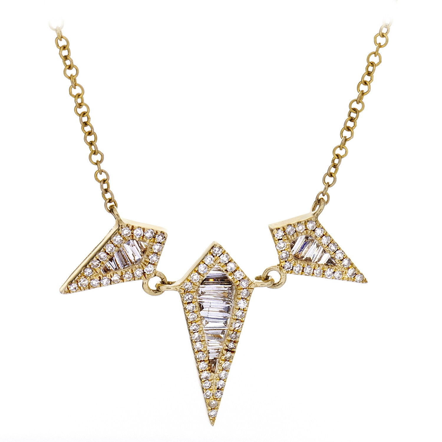 Diamond & 14K Yellow Gold Rhombus Necklace