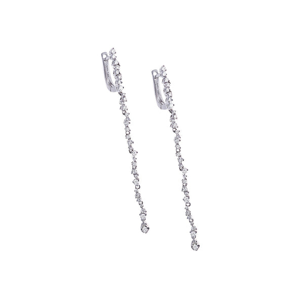 Diamond & 14K White Gold Strand Dangle Earrings - SOLD/CAN BE SPECIAL ORDERED WITH 4-6 WEEKS DELIVERY TIME FRAME